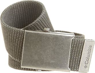 Columbia Mens Military Web Belt - Casual for Jeans Adjustable One Size Cotton Strap and Metal Plaque Buckle,Olive,One Size