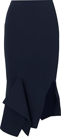 Roland Mouret Lucca Stretch-knit Skirt - Navy