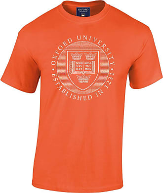 Oxford University Official Distressed Crest T-Shirt - Orange - XX Large