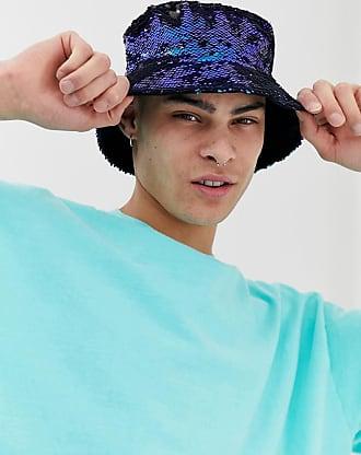 Asos Cappello da pescatore in paillettes bicolore-Verde