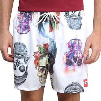 Kevland Underwear Short Kevland Colored Skulls Branca Tamanho:GG;Cor:Branco