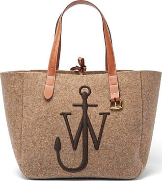 J.W.Anderson Belt Embroidered-anchor Wool-felt Tote Bag - Womens - Beige
