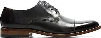Clarks Mens Dark Brown Leather Clarks James Cap Size 10.5