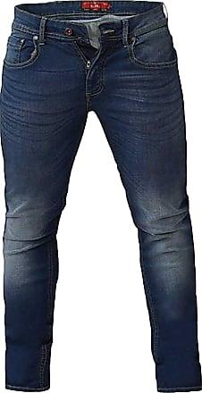 Duke London D555 Ambrose Big Tapered Stretch Jeans|Blue|54 Waist 32 Leg