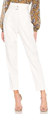 Bcbgmaxazria High Waisted Trouser in White