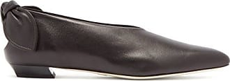 Proenza Schouler Knot-heel Leather Flats - Womens - Black