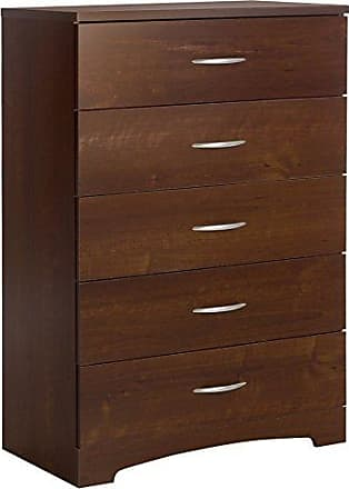 South Shore Furniture Step One 5-Drawer Dresser, Sumptuous Cherry with Matte Nickel Handles