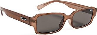 Quay Womens Strange Love Sunglasses, Brown/Smoke, One Size