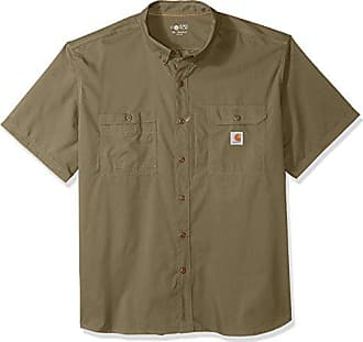 Carhartt Work in Progress Mens Big and Tall Force Ridgefield Short Sleeve T-Shirt (Regular and Big & Tall Sizes), Burnt Olive, 4X-Large