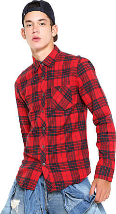 Red Nose Camisa Red Nose Xadrez Flanelada Vermelha Preta ea4a61f95f8