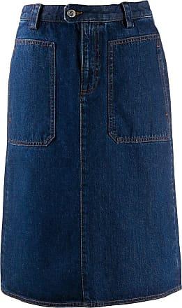 A.P.C. Saia jeans Jupe Nevada - Azul
