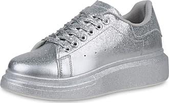 Scarpe Vita Women Platform Sneaker Glitter Platform Front 190472 Silver UK 5.5 EU 39