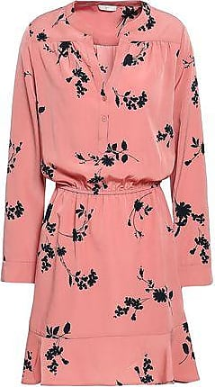 Joie Joie Woman Acey Floral-print Washed-crepe Mini Dress Antique Rose Size XS