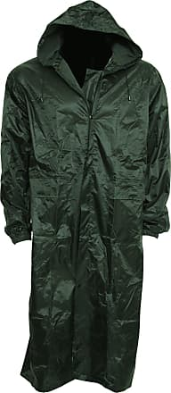 Universal Textiles Mens Waterproof Rain Jacket With Hood - Green - Small
