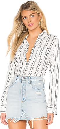 Chaser Classic Button Down Blouse in White