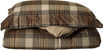 Woolrich Lumberjack Twin Size Bed Comforter Set - Brown, Khaki, Farmouse, Rustic Plaid - 2 Pieces Bedding Sets - Softspun Flannel Bedroom Comforters