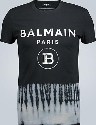 Balmain Tie-dye hem T-shirt