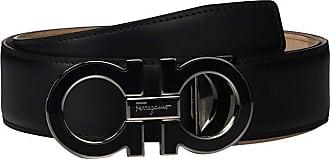 Salvatore Ferragamo Outline Dress Belt - 679750 (Black 2) Mens Belts