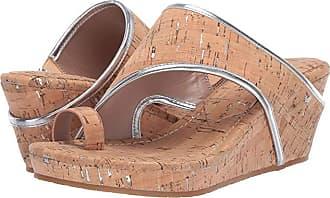 Donald J Pliner Gyer 2 (Natural/Silver Distress Metallic Cork/Distress Metallic Cork) Womens Wedge Shoes