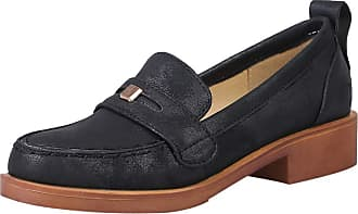 Mediffen Loafers Shoes Classic Women Round Toe Mid Heels Pumps Comfort Female Block Heels Pumps Retro Loafers Slip On Black Size 41 Asian