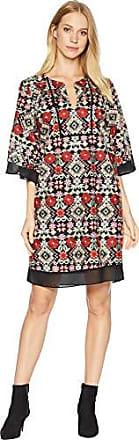 Bcbgmaxazria BCBGMax Azria Womens Tati Floral-Embroidered Shift Dress, Jasper Multi, S