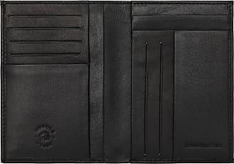 DV Portafoglio uomo NERO in Pelle Nappa con Portamonete Porta Carte e Patta