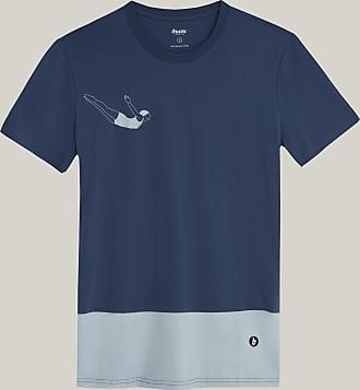 Brava Fabrics Camiseta Hombre - Camiseta para Hombre - 100% Algodón Orgánico - Modelo Vintage Swimmer
