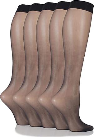 SockShop SockShop Womens 5 Pair 15 Denier Knee Highs 4-8 Ladies Black