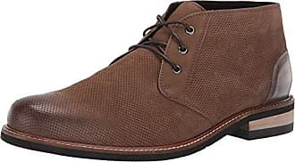 Dr. Scholls Mens Willing Chukka Boot, Taupe Leather Perforated, 9 M US