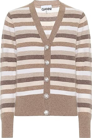 Ganni Cardigan a righe in cashmere