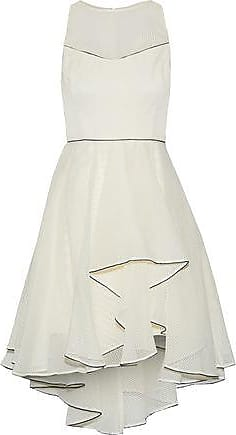 3354b5ea2f96c6 Halston Heritage Halston Heritage Woman Ruffled Embroidered Organza Mini  Dress Cream Size 4