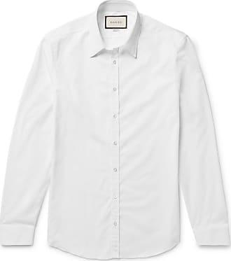7a9436fbf Gucci White Slim-fit Cotton-poplin Shirt - White