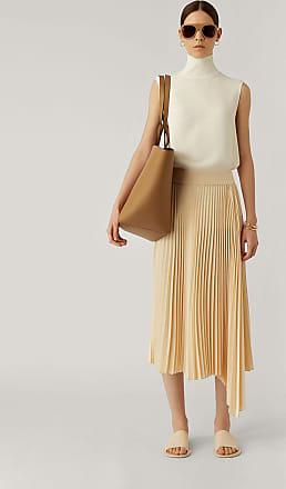 Joseph Sabin Knit Weave Plissé Skirt