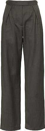 Wright Le Chapelain Calça cintura alta - Cinza