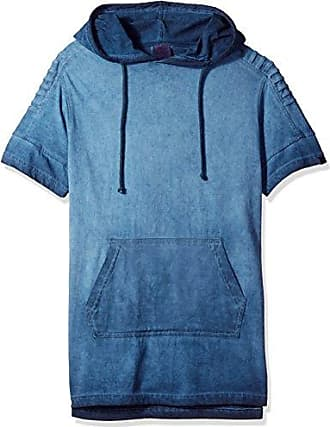 WT02 Mens Short Sleeve Surface Dyed Hooded Tee with Kangaroo Pockets a25b8b1be