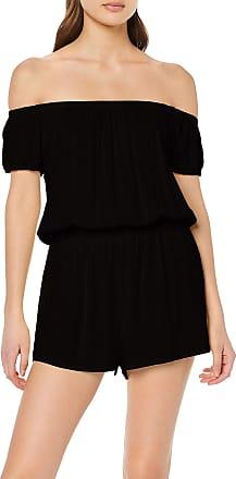 Urban Classics Womens Ladies Off Shoulder Short Jumpsuit, Black (Black 00007), XXXX-Large