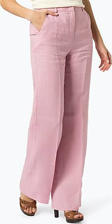 Max Mara Damen Hose aus Leinen rosa