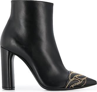 Casadei stud-embellished ankle boots - Black