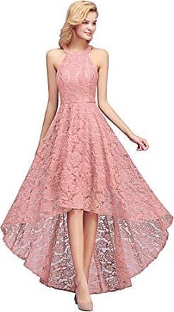 28b4597c1a0323 MisShow Dame Elegante Spitzenkleid Rundausschnitt Hochzeitskleid Pin-up  Kleid Schwingen Festlichkleid 40