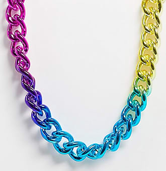 Topman X PRIDE neckchain in multicoloured links
