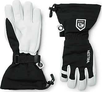 Hestra Army Leather And Canvas Ski Gloves With Removable Liner - Black