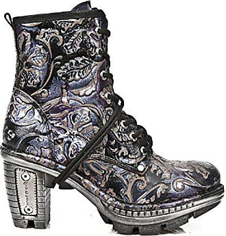 New Rock Newrock M.NEOTR008-S4 Jahrgang Blume Lila Schwarz Gothic Rock Punk  Stiefel e539aacba4