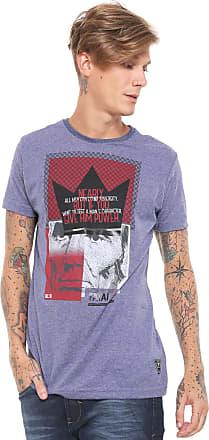 Fatal Surf Camiseta Fatal Long Estampada Azul