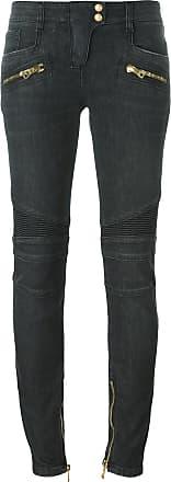 Balmain skinny biker jeans - Grey