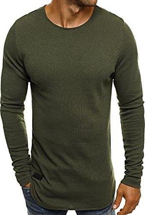 e5b58c6333f59c OZONEE Mix Herren Sweatshirt Langarmshirt Rundhals Pullover Sweats OZONEE  Mix 1165 Khaki S