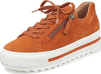 Gabor Platform sneakers zip fastener on the outside Gabor Comfort orange