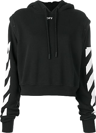 1c344bcd094d Off-white stripe detailed hoodie - Black