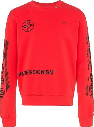 474a2418 Off-white Impressionism crew neck cotton logo sweatshirt - Red