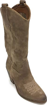 Zoe Florida 07 High Boots Texan Suede Taupe Color Brown Size: 4 UK