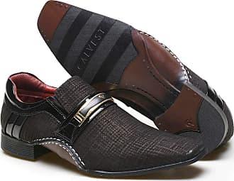Calvest Sapato Social Masculino Calvest em Couro com Textura Tear - 1930D415 Preto-38